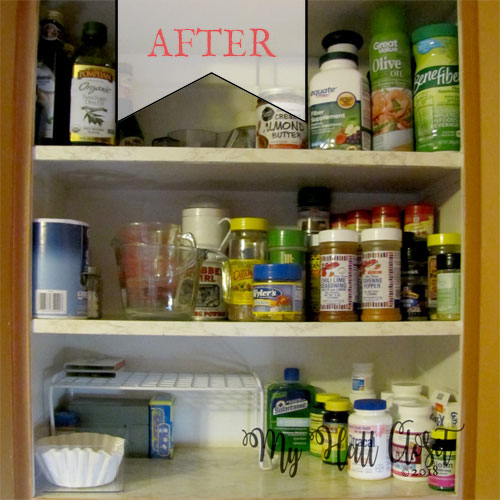 how to organize your spice cabinet - after