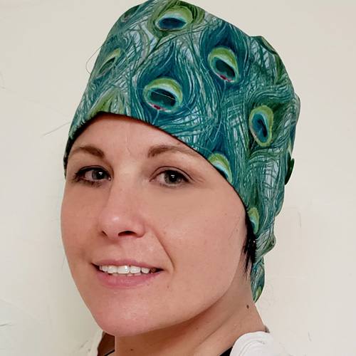 My Hall Closet Scrub Cap for Ponytail Pattern