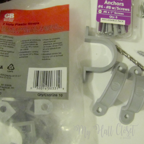 2 hole plastic straps for electrical cords
