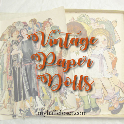 Vintage Paper Dolls, Lace, and a Rusty Truck