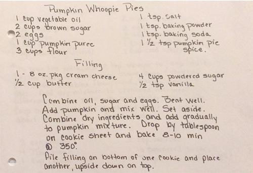 Malinda's Pumpkin Whoopie Pies Recipe