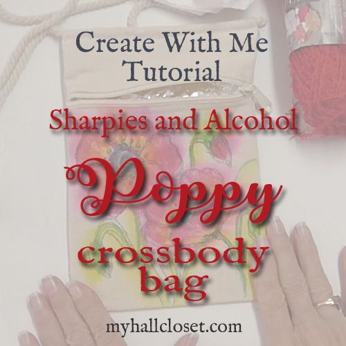 Red Poppy Crossbody Bag Tutorial