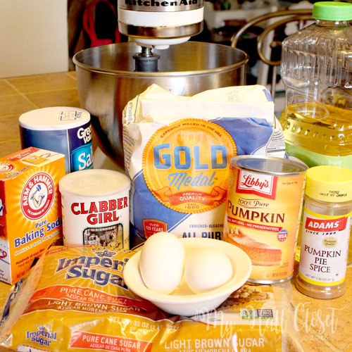 Pumpkin Whoopie Pie Ingredients