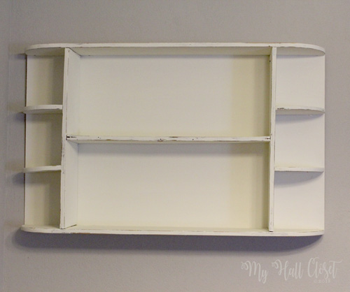 White shelf makeover waverly chalk paint distressed