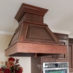 Faux hammered copper vent-a-hood installed