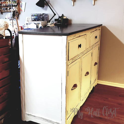 Transform a Vintage buffet finished