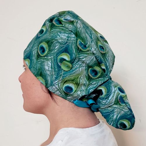 My Hall Closet Scrub Cap with Ponytail Pattern