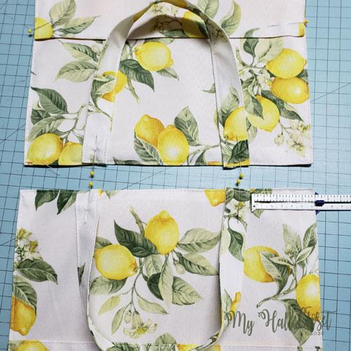 Strap placement for Lemon Bag