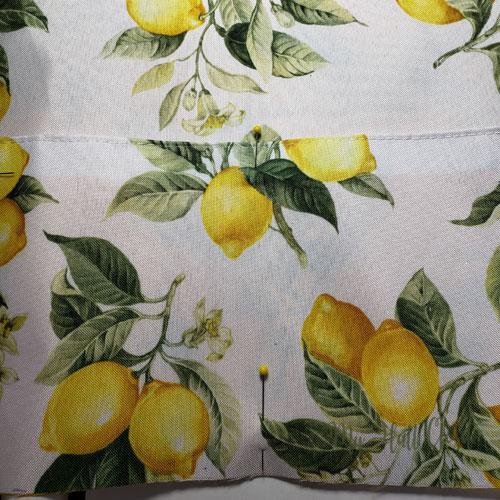 Dollar Tree Lemon Placemats Bags Cutting