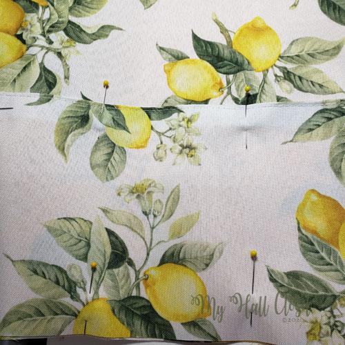 Dollar Tree Lemon Placemats Bag Pockets