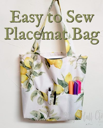 Easy to Sew Placemat Bag