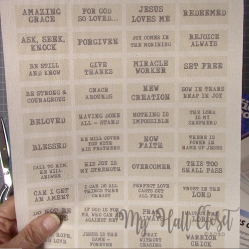 Print the scripture labels