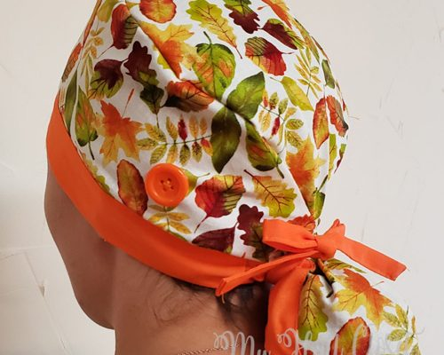2 Color Scrub Cap with Ponytail PDF Pattern