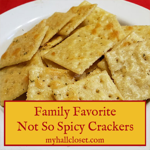 Not So Spicy Crackers