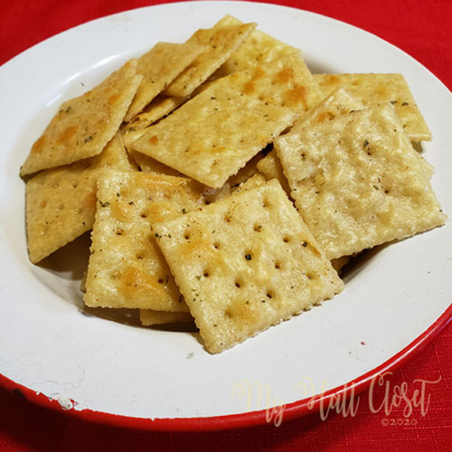 Bowl of Not so Spicy Crackers