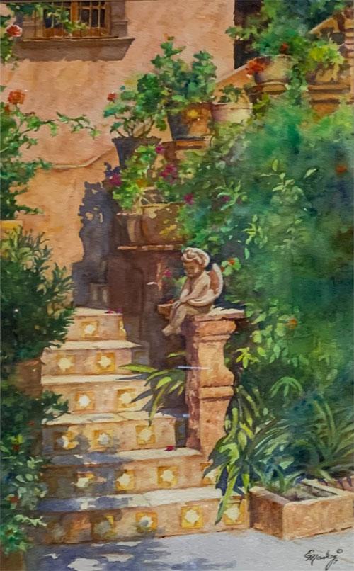 E Mackey watercolor