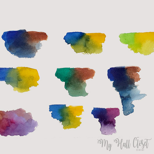 Color Mixing Sample Card