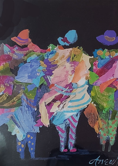 Gossip Girls Out on the Town by Dyan Newton - Print