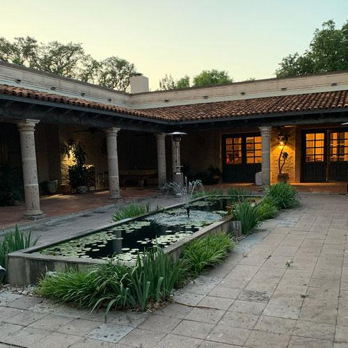 Avery Hacienda courtyard