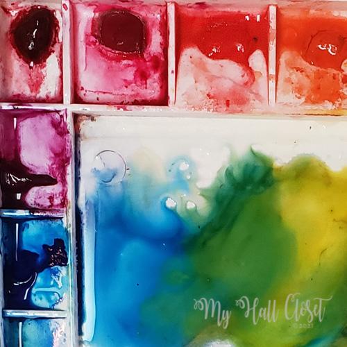 Vibrant Color Wet Palette