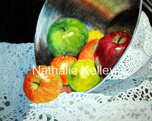 Apples Chrome and Crochet Nathalie Kelley Watercolor
