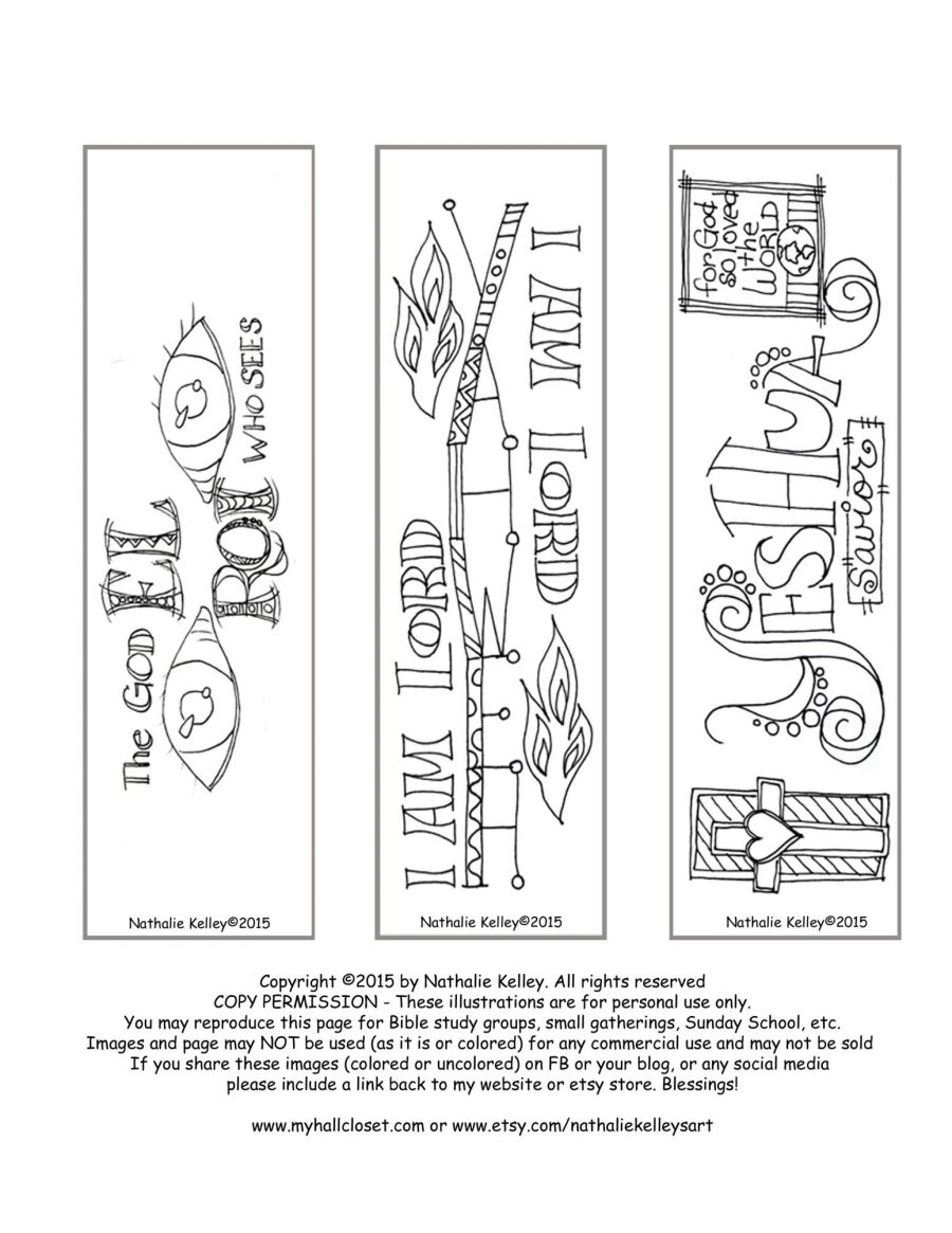 Free Names of God Bookmarks